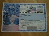 Hist. Wertpapier - PLANET HOLLYWOOD INTERNATIONAL INC. - 1999 - 1 Shares - Var.4