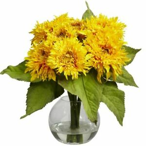 "Luxury Yellow Golden Sunflower Arrangement - 12"""