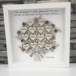 Personalised EID Gift Family Tree Grandparents Gift