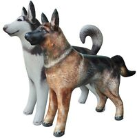 2 Inflatable Dog Husky German Shepherd Animal Gift Toy Home Yard Party Decor