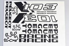 1 planche Autocollant  Peugeot 103 sp spx rcx chrono  couleur carbone
