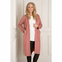 Nicole Faux Suede Duster Coat, Navy, Baby Blue, Camel, tan, Black, rose, pink