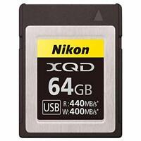 Nikon MC-XQ64G XQD Memory Card 64GB for Z7 Z6 D850 D500