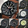 XINEW Men Military Army Sports Quartz Date Luminous Nylon Strap Wrist Watch T9N4