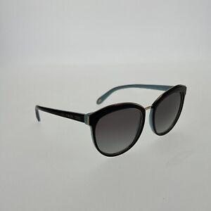 TIFFANY & CO. Cat Eye Sunglasses TF4146 8055/3C 56mm Black Rose Gold Turquoise
