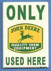 JOHN DEERE *2X3 FRIDGE MAGNET* PARKING SIGN QUALITY FARM EQUIPMENT VINTAGE 925