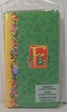 Mary Engelbreit Christmas Notecards Initial E Monogram 8 Cards & Envelopes New