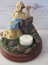 Bradford Exchange Decor Jesus Statue - Our Lords Serenity Prayer *New
