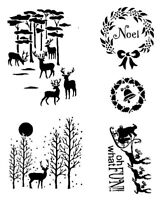 STENCILS CRAFTS TEMPLATES SCRAPBOOKING CHRISTMAS STENCIL - 8 - A4 MYLAR