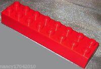 Lego Duplo 1 Stck Stein 2x8 16er Baustein rot  Brick aus 9175 9194 9185 Steine