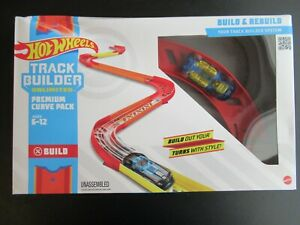 Hot Wheels Track Builder Unlimited Premium Curve Pack Play Set PACKAGE WEAR