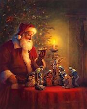 Christmas Art, Santa Claus,Handcraft Portrait Oil Painting on Canvas 24X36inch#3