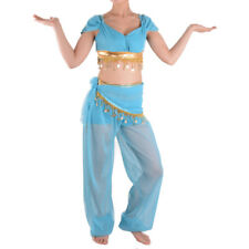 Aladdin Jasmine Costume Princess Belly Dancer Adult Dress Cosplay Halloween Part