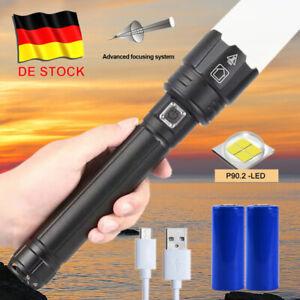 2000000 Lumen Wiederaufladbare Super hell LED Taschenlampe XHP90 USB Zoom Torch