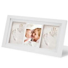 Wooden Growth Record Baby Footprint Kit Memory Handprint Photo Frame Gift