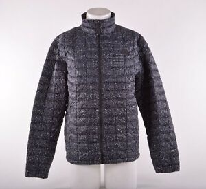NWT MENS THE NORTH FACE THERMOBALL FULL ZIP SNOWBOARD JACKET $200 M blk/wht