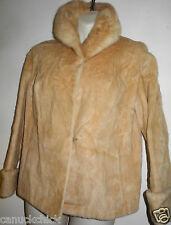 EATONS CANADA MINK LAMB JACKET BLONDE 12P Vintage Short Coat M Petite Real Fur