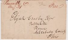 PAINESVILLE OHIO 1826 Stampless Manuscript Folded Letter to ROME, OHIO