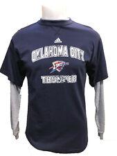 Adidas Oklahoma City Thunder Youth Boys Faux-Layered Long Sleeve Thermal Shirt