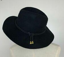 Sportsgirl Felted Wool Black Cord Trim Hat
