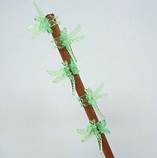 Dragonfly Clips for Orchids or plant spikes Pack of 5 Green