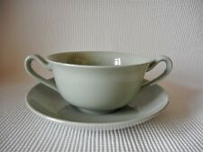SPODE FLEMISH GREEN COUPE - SOUP  GOOD CONDITION