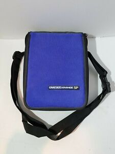 Genuine Nintendo Game Boy Advance SP Blue Travel Carrying Case Bag With Strap
