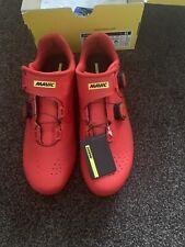 New With Box Mavic Cosmic Pro Mens UK9 Fiery Red Cycling Shoe