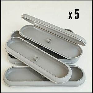 Empty pen box Presentation Display Boxes gift boxes x 5 hinged transparent lid