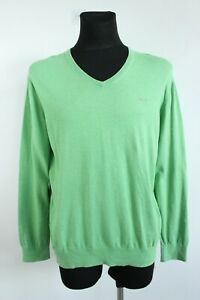 Marc O'Polo Solid Green V-Neck Long Sleeve Soft Cotton Sweater Size XL