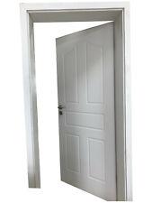 Zimmertür Innentür Komplettset Tür mit Zarge Tür gefälzt inkl Druckergarn#ST-023