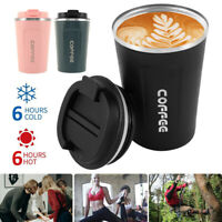 Insulated Travel Coffee Mug Cup Leakproof Thermal Stainless Steel Flask Vacuum
