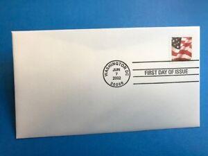 #3624 2002 FDC Flag 37c L150 UA PM Washington DC
