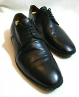 BALLY Switzerland Mens Black Leather Lace-Up Derby Shoes - UK 7.5 EUR 41.5