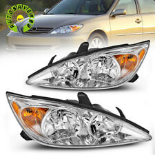 Headlights For 2002 2004 Toyota Camry Chrome Clear Headlamp Assembly Replacement