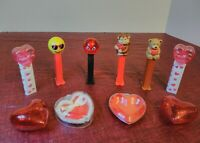 Lot of 6 PEZ Dispensers ~Valentine's Day - & 4 Heart Containers.