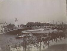 Pont Alexandre III Exposition universelle de Paris 1900 Vintage citrate
