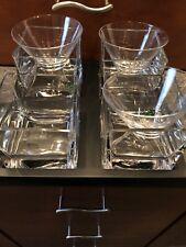 Trudeau Mouth Blown Verre Soufflé Martini Glass Set-One Glass & Stirrer Missing