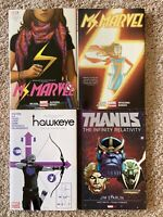 Graphic Novel Lot Ms. Marvel Comics Hardcover Deluxe Vol 1 2 3 4 Hawkeye OHC TPB