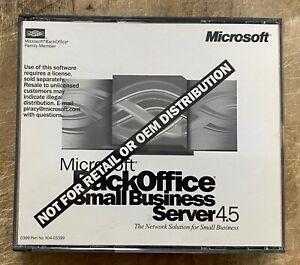 Microsoft Back Office Small Business Server 4.5 w/CD-Key