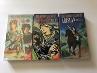 Lot Of 3 The Heroic Legend Of Arislan Part 1 2 3 4 Anime VHS Tapes