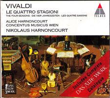 Alice & Nikolaus HARNONCOURT: VIVALDI The Four Seasons Die Vier Jahreszeiten CD
