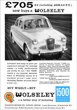 WOLSELEY 1500 RETRO A3 POSTER PRINT FROM CLASSIC 60'S ADVERT