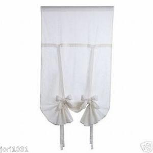 2 sets NEW Designer Window Shade Curtain drape white