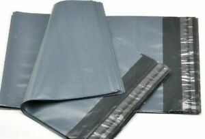 """1/500 BAGS - 4"""" to 26"""" STRONG POLY MAILING POSTAGE POSTAL QUALITY SELF SEAL GREY"""