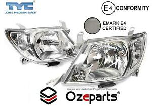 Set Pair LH+RH Head Light Lamp For Toyota Hilux Ute 2008~2012 2WD / 4WD