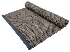 Area Rug 2x3 Ft Reversible Floor Runner Small Size Dari Brown Carpet Leather Mat