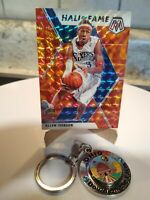 2019-20 Panini Mosaic Hall of Fame Reactive Orange Prizm Allen Iverson #287 HOF