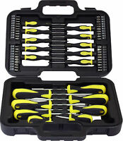 58PC SCREWDRIVER SET IN CASE TOOL KIT TORX BIT PHILLIPS PRECISION SLOTTED GARAGE