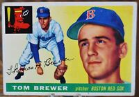 1955 Topps Baseball Card, #83 Tom Brewer, Boston Red Sox - VG
